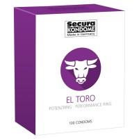 Secura El Toro - potenciagyûrûs óvszerek (100db)