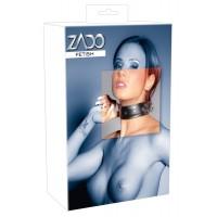 ZADO - 2 gyûrûs, valódi bõr nyakörv (fekete)