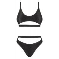 Obsessive Miamelle - pántos sportos bikini (fekete) L