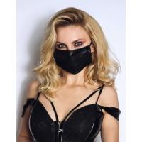 Noir - csipkés maszk (fekete)