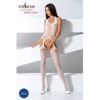 Passion BS059 - nyakpántos, lyukacsos necc szett (fehér) - S-L