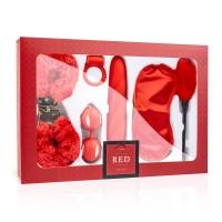 Loveboxxx I love Red - vibrátoros kötözõ szett (6 részes) - piros