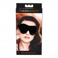 Sportsheets - puha, gumis szemmaszk (fekete)