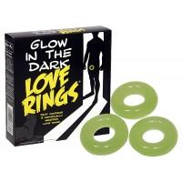 Love Rings - sötétben világító péniszgyûrû szett (3 részes)