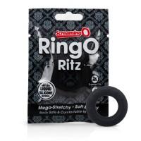 Screaming O Ritz - szilikon péniszgyûrû (fekete)
